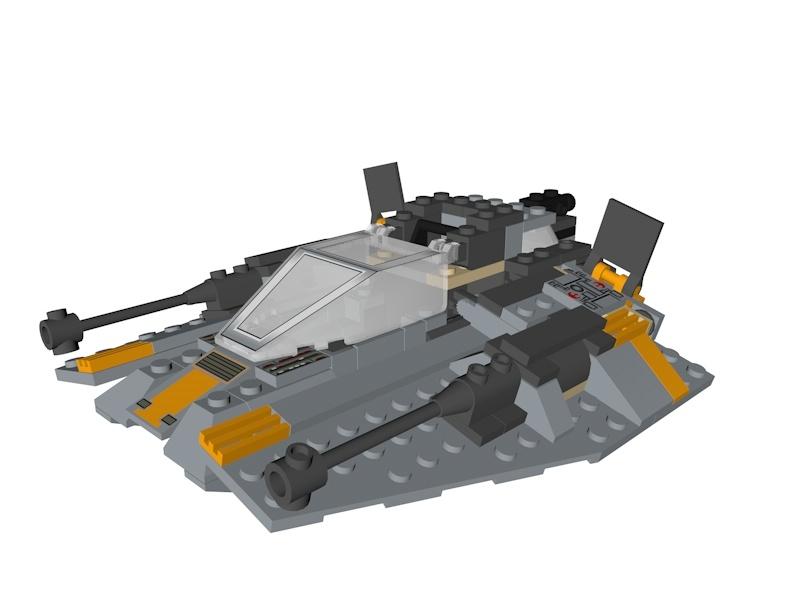 3D lego star wars snowspeeder