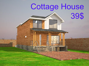 3D model cottage house