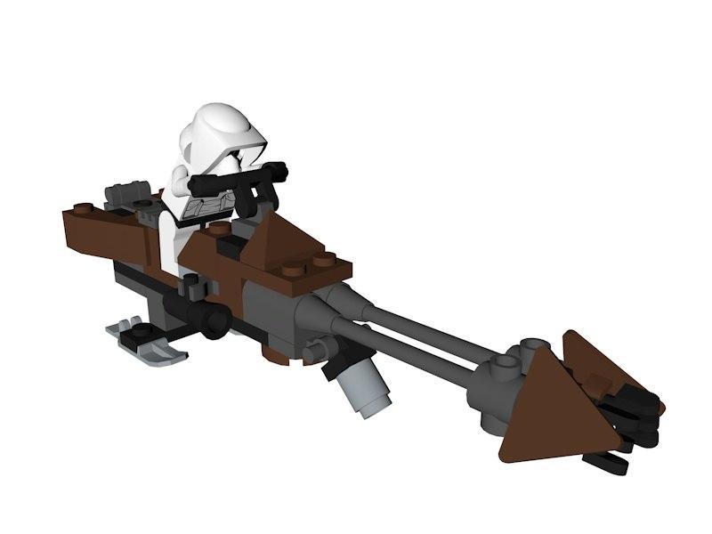 lego star wars speeder bike 3D model