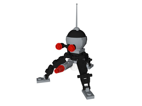 lego star wars spider 3D model