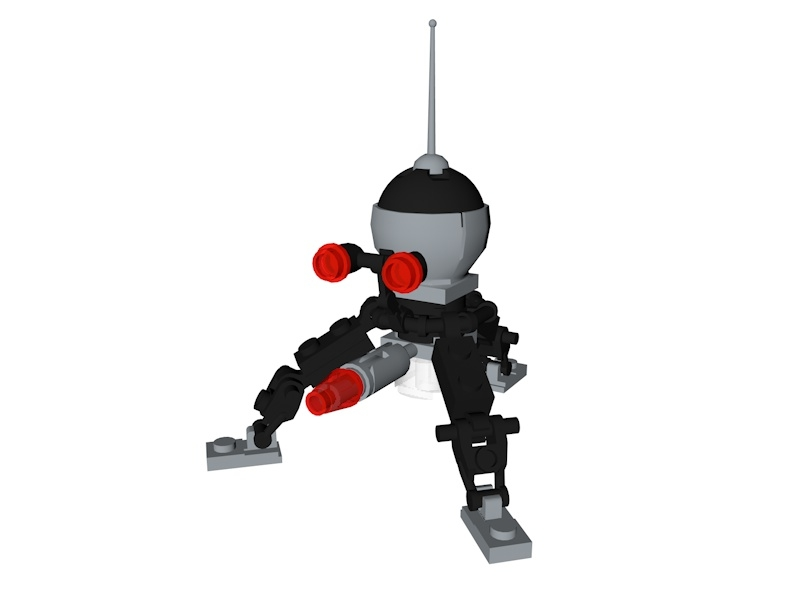 lego star wars spider 3D model