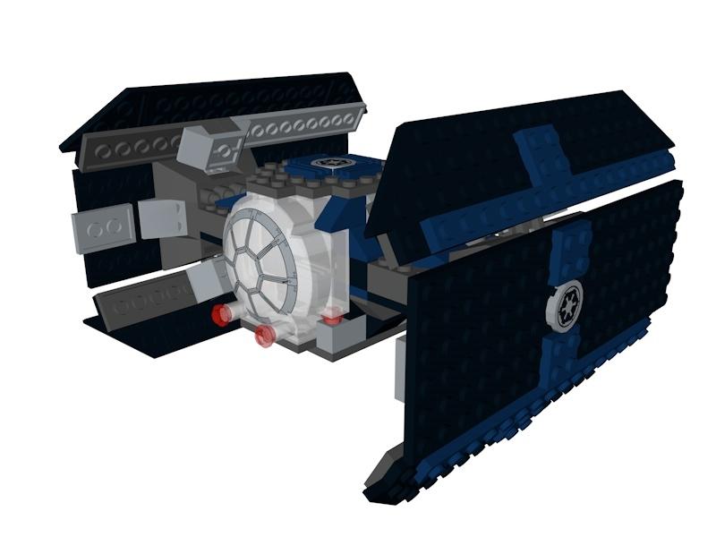 lego star wars tie 3D model