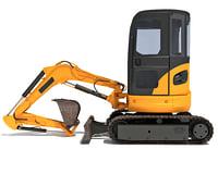 3D tracked mini excavator model