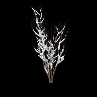 winter bush 01 snow 3D model
