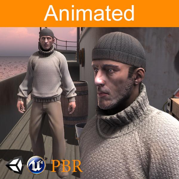 3D model character sailor