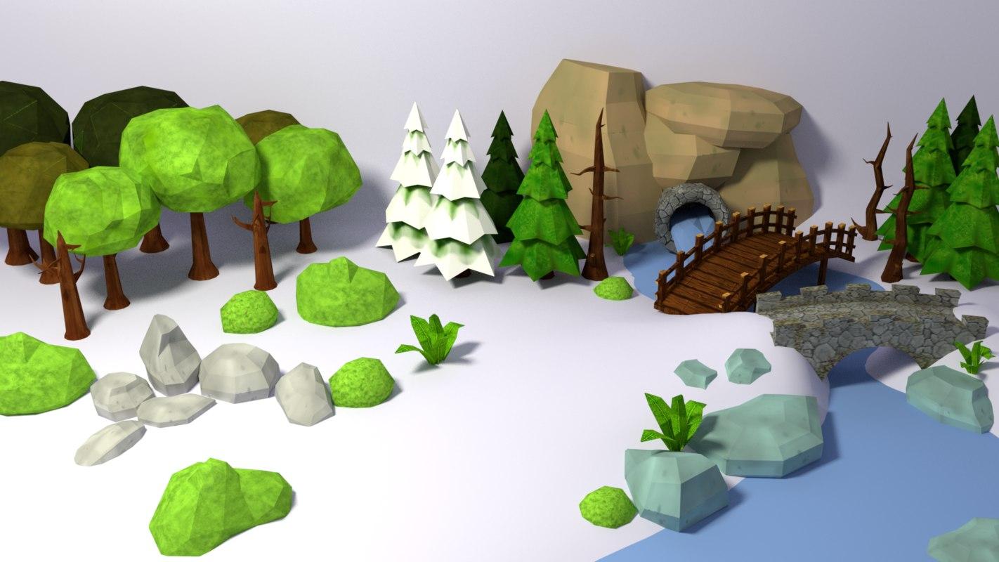 nature starter pack 1 3D model