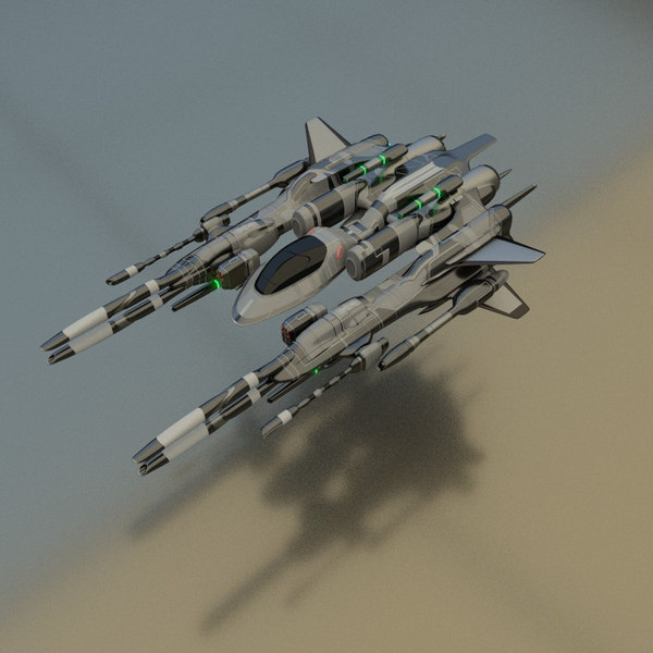 3D spaceship fighter model