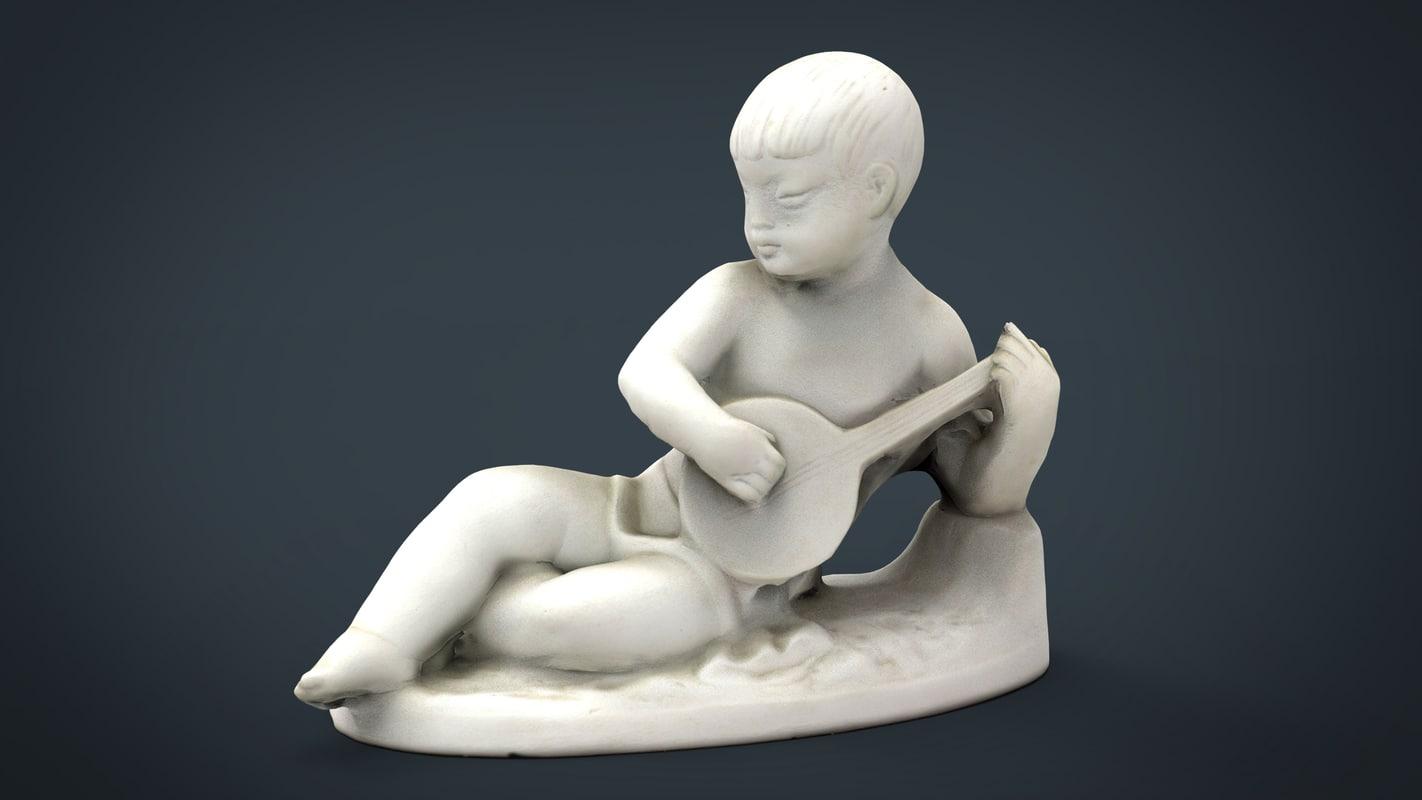 child statue 2 3D model