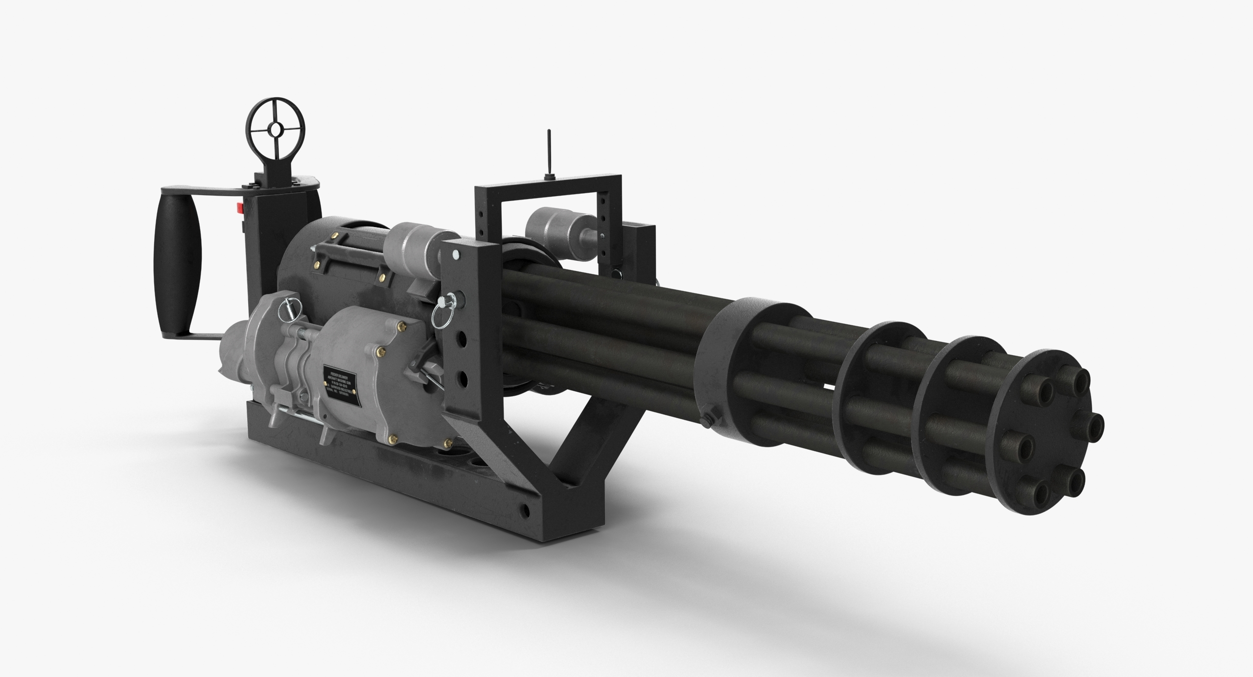 M134 Minigun With Mounting Bracket Clean