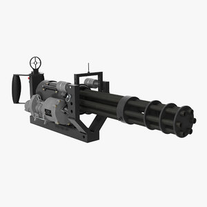m134 minigun mounting bracket 3D model