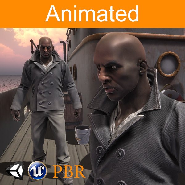 character sailor afro model