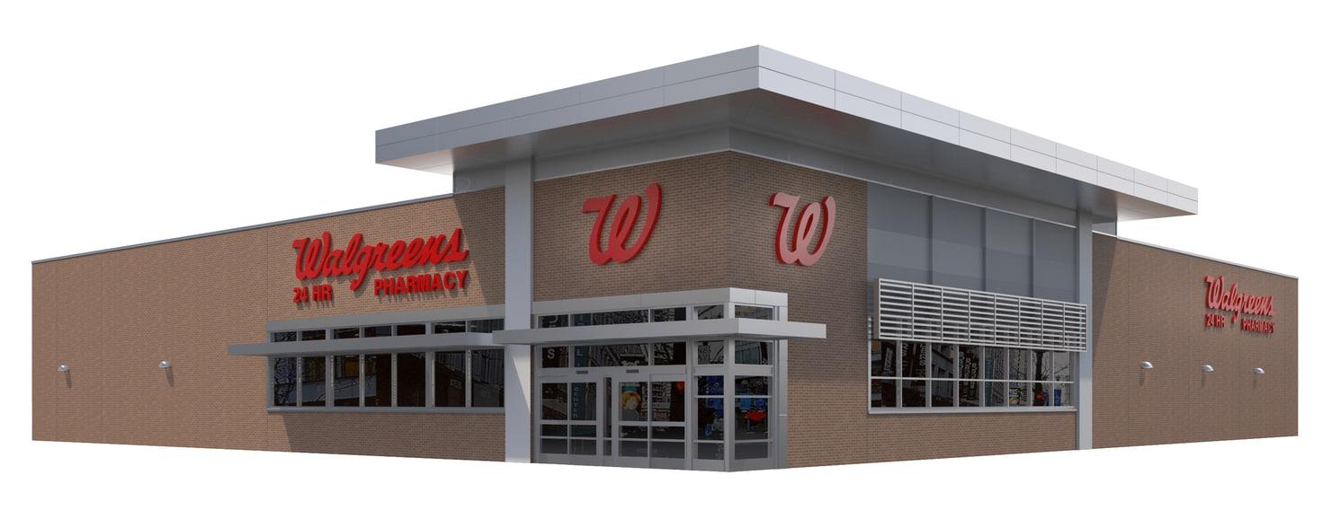3D retail walgreens building