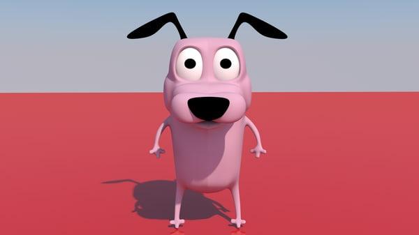 3D model courage cowardly dog