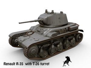 renault r-35 turret t-26 3D model