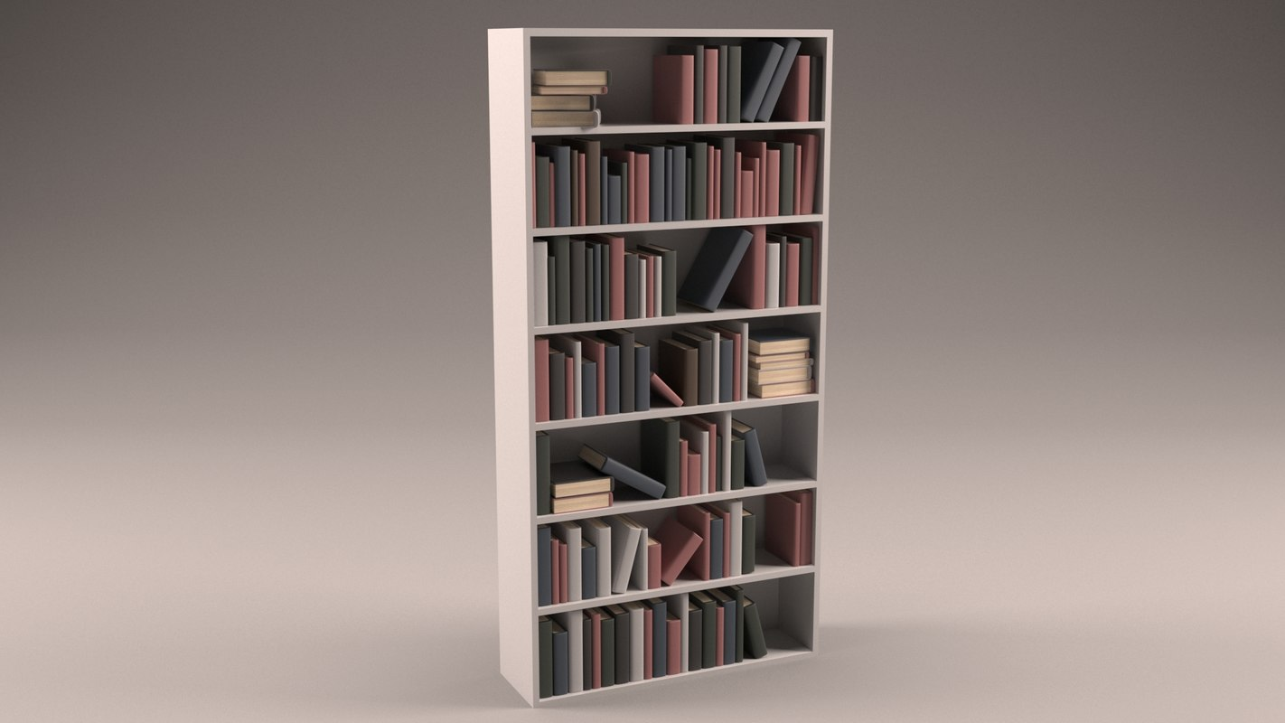 3D model simplistic book case