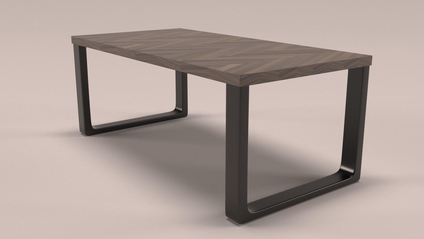 simplistic desk 3D model