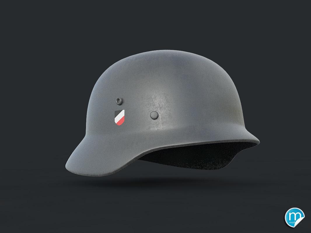 stahlhelm german helmet 3D model