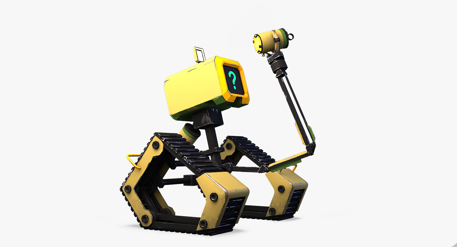 3D model robot cleaner