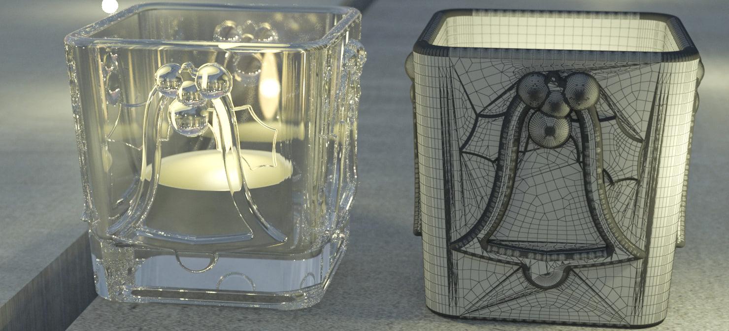 christmas bell candelite holder 3D model