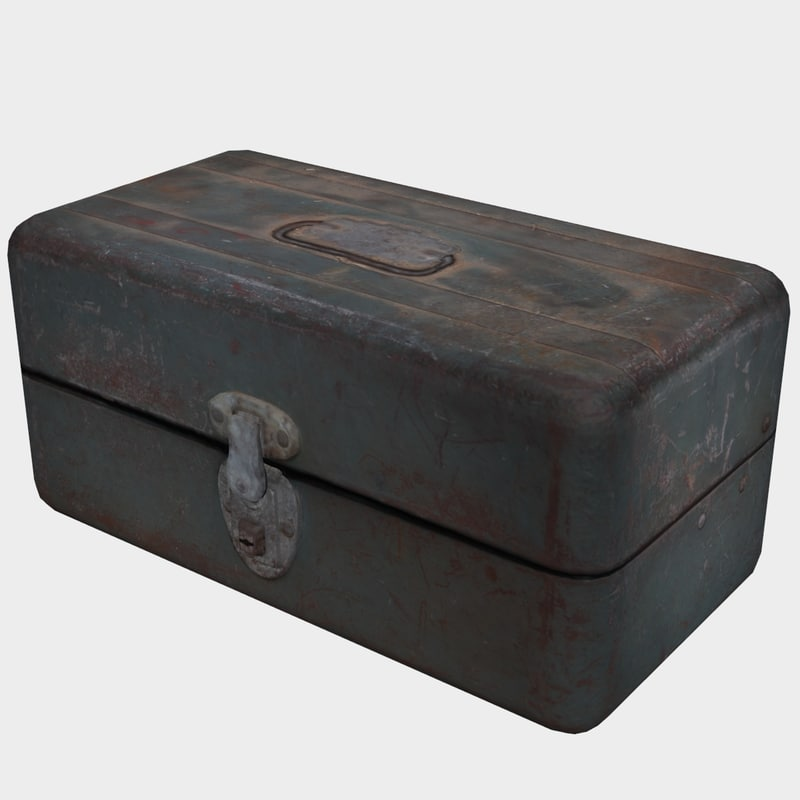 old tool box 3D model