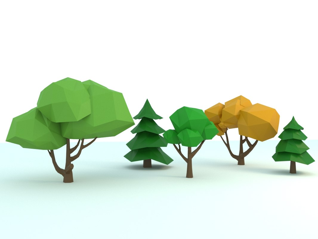 3D model tree forest