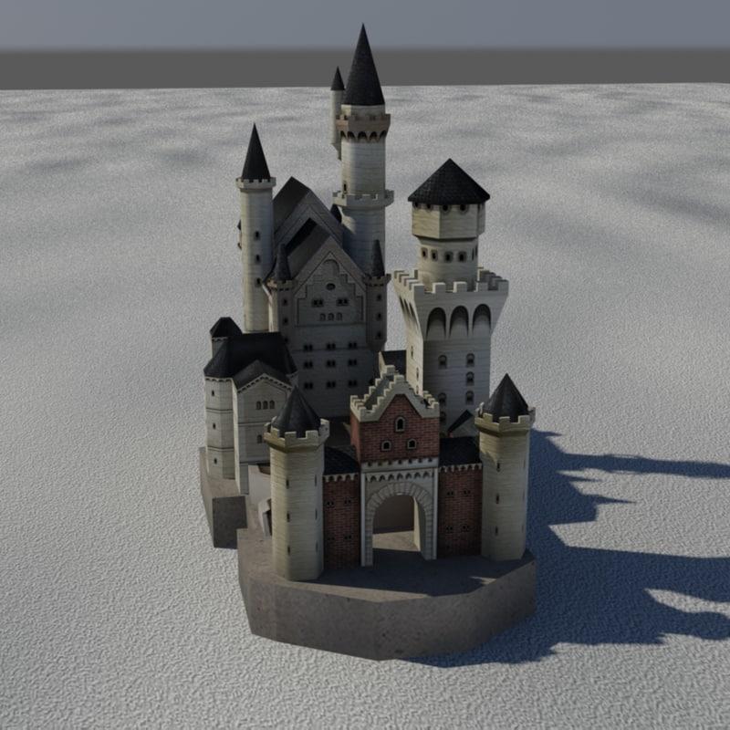 3D neuschwanstein castle