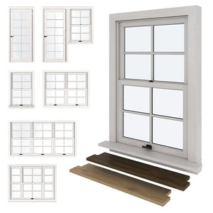 types windows american 3D model