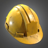Hard Hat (Construction) - PBR Game Ready