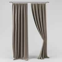 curtain drape 3D model
