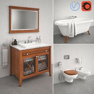 3D bathroom furniture hommage model