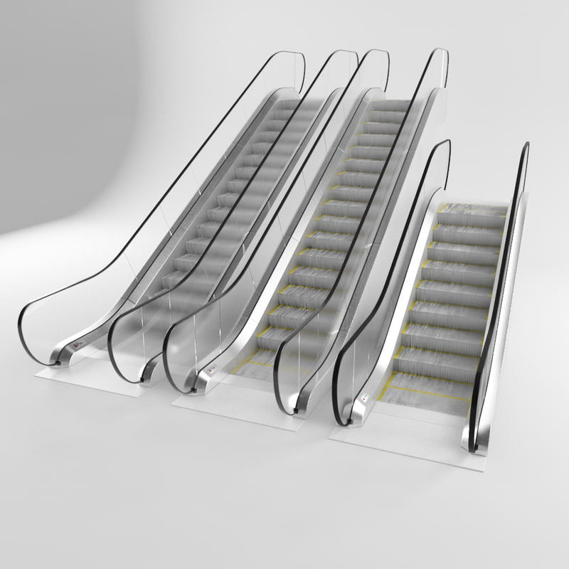 3D model escalator - TurboSquid 1238967