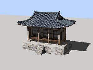 korea cultural house 3D model