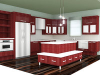 3D Full Kitchen Scene model