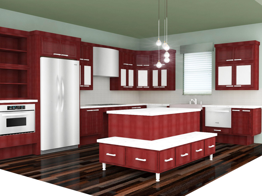3D kitchen scene