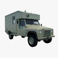 land rover battlefield ambulance 3D model