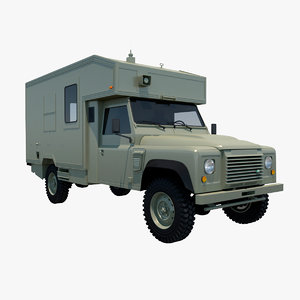 land rover battlefield ambulance 3D model