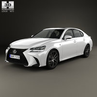 lexus gs f 3D model