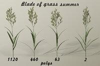 3D grass blade