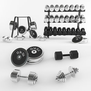 3D sports dumbbells racks