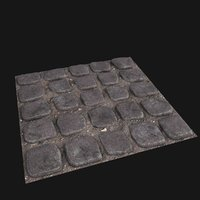 3D paving stones tileable tile ground