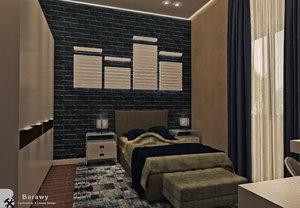 modern boys bedroom 3D model