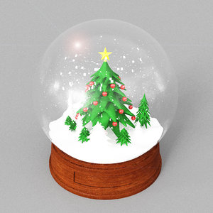 snow globe christmas model