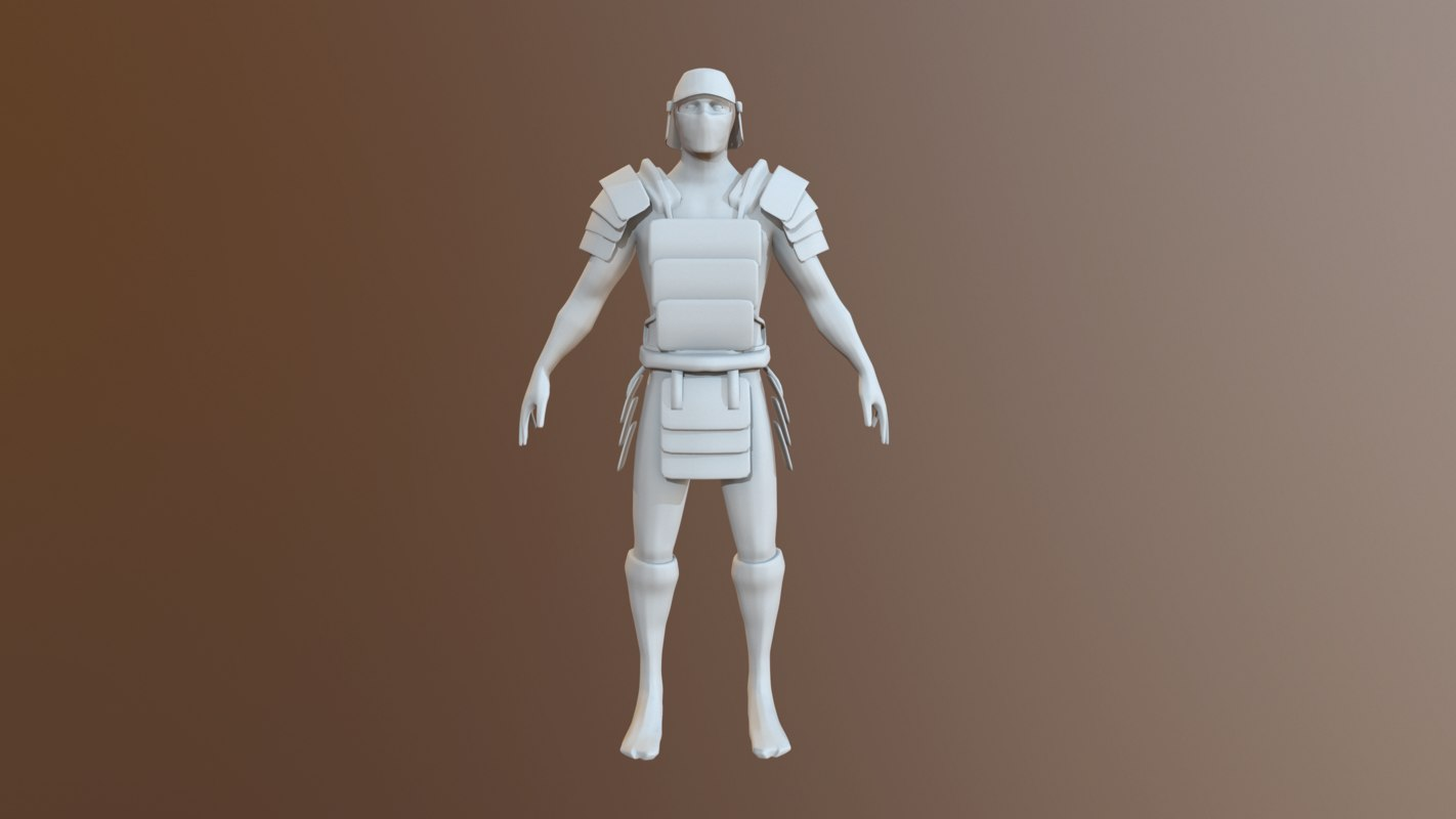 character ready texturing 3D model