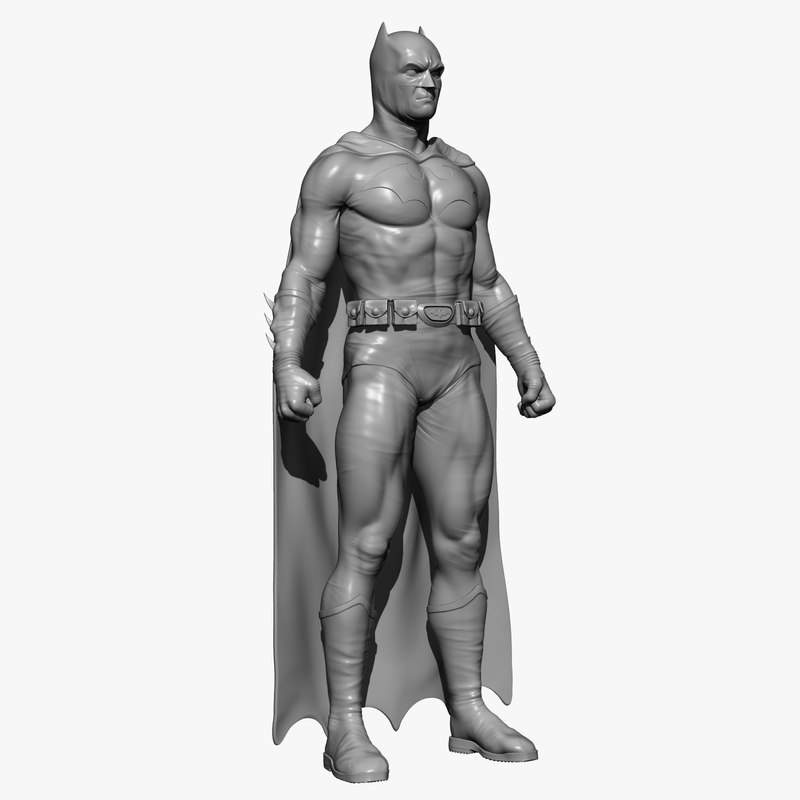 3D batman man model