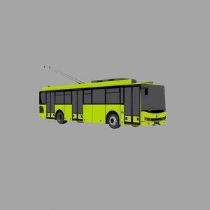 3D model trolleybus svrz-t5201