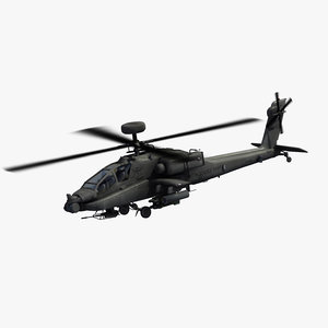 3D model ah64e apache guardian