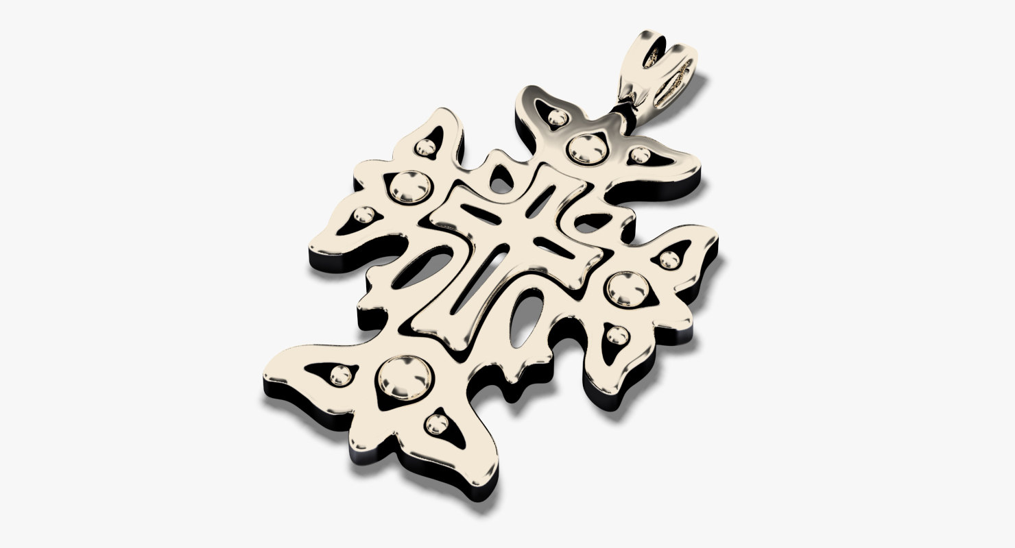 cross pendant stl 3D model