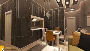 3D modern reception sofa