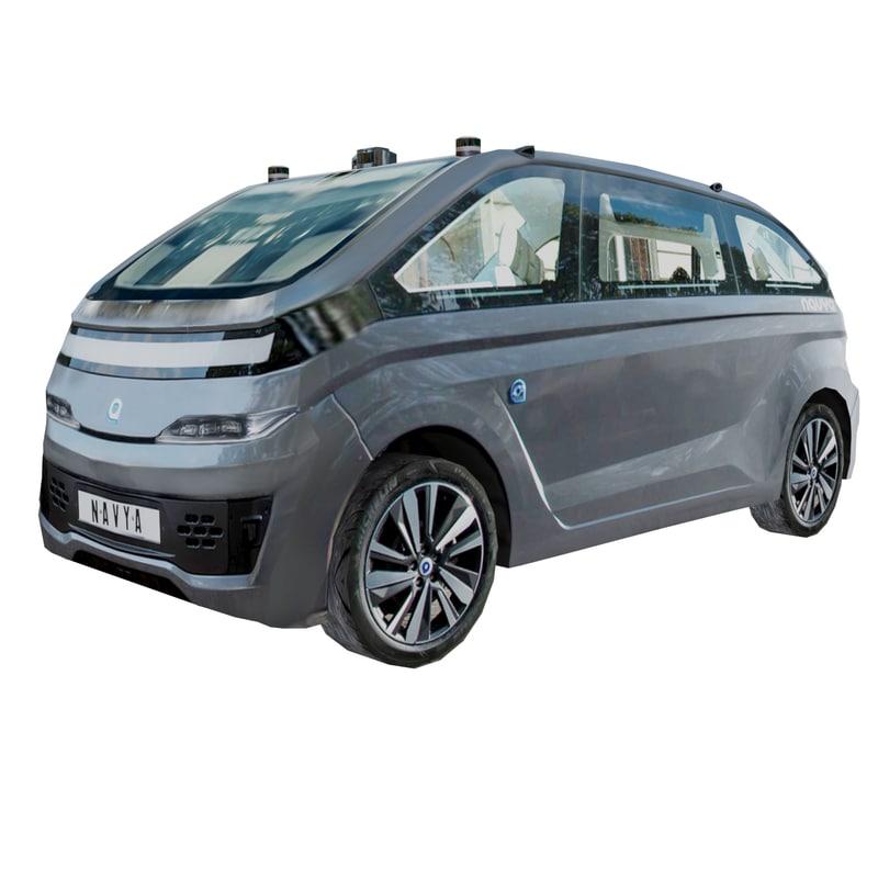 3D model navyas autonom cab