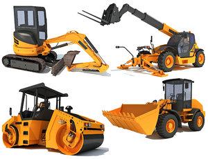 3D construction vehicles